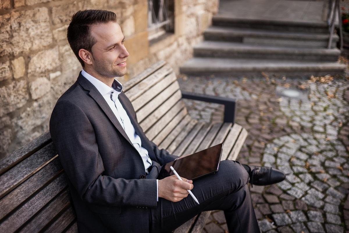 Dennis Berger, Kandidat als Bürgermeister für Wolfenbüttel 2021, am Rathaus Wolfenbüttel, Zukunft