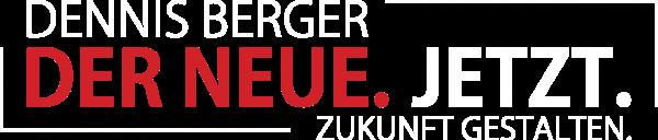 Logo von Dennis Berger. Der Neue. Jetzt. Zukunft gestalten.